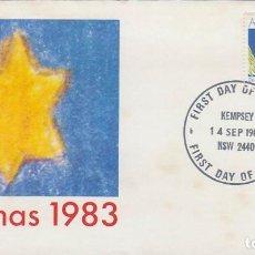 Sellos: AUSTRALIA, NAVIDAD 1983, PAJARO PAPA NOE, PRIMER DIA DE 14-9-1983. Lote 122212823