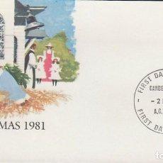 Sellos: AUSTRALIA, NAVIDAD 1981, CUENTOS NAVIDEÑOS, PRIMER DIA DE 2-11-1981. Lote 122456315