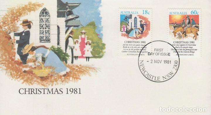 AUSTRALIA, NAVIDAD 1981, CUENTOS NAVIDEÑOS, PRIMER DIA DE 2-11-1981 (Sellos - Temáticas - Navidad)