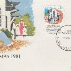 Sellos: AUSTRALIA, NAVIDAD 1981, CUENTOS NAVIDEÑOS, PRIMER DIA DE 2-11-1981. Lote 122456527