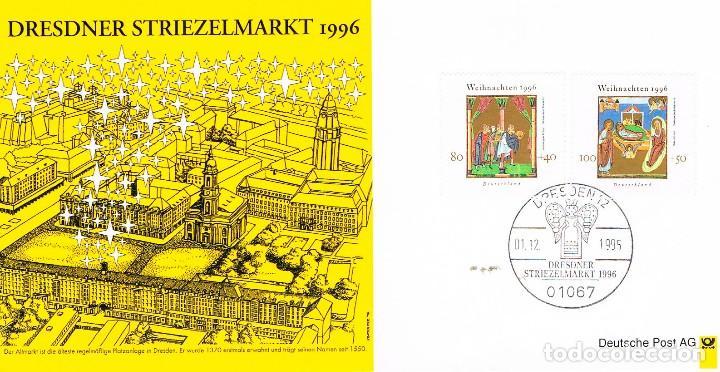 ALEMANIA Nº 1723/4, NAVIDAD 1996, PRIMER DIA DE 1-12-1995 (Sellos - Temáticas - Navidad)