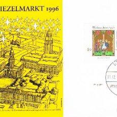 Sellos: ALEMANIA Nº 1723/4, NAVIDAD 1996, PRIMER DIA DE 1-12-1995. Lote 124540719