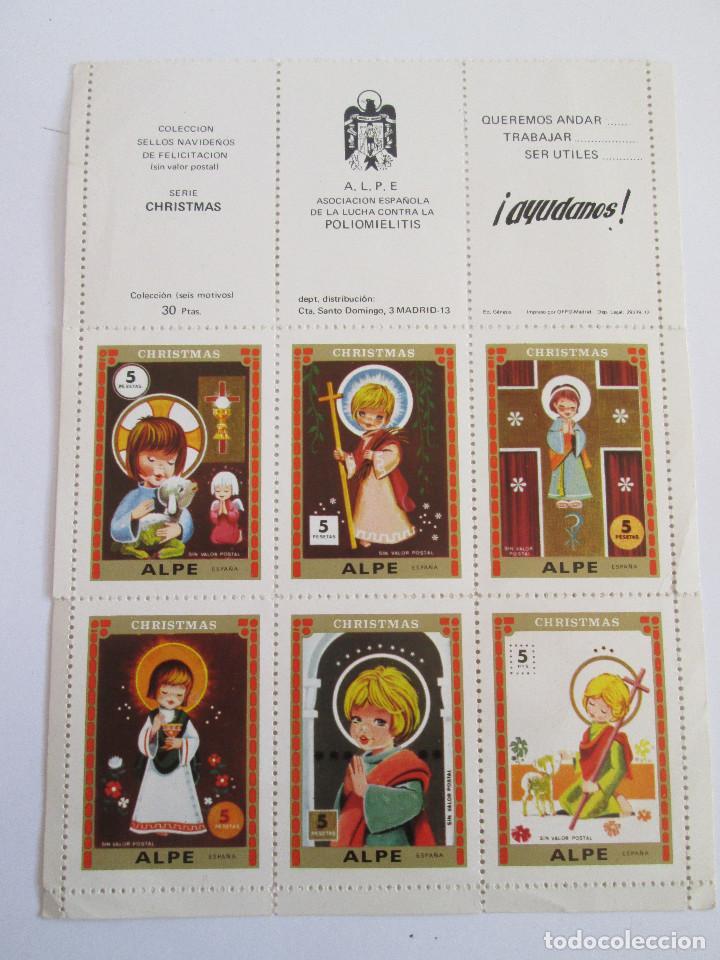 COLECCION SELLOS ALPE (POLIOMIELITIS) - SERIE CHRISTMAS - 6 SELLOS SIN VALOR POSTAL - 1972 (Sellos - Temáticas - Navidad)