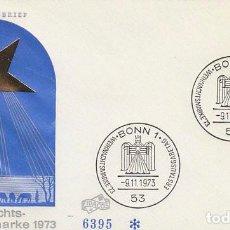 Sellos: ALEMANIA Nº 639, NAVIDAD 1973, PRIMER DIA DE 9-11-1973. Lote 128022451