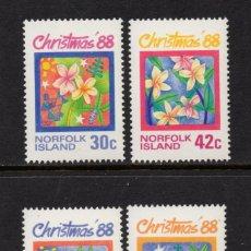 Sellos: NORFOLK 439/42** - AÑO 1988 - NAVIDAD. Lote 128549371