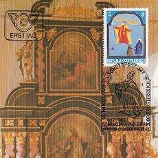 Sellos: AUSTRIA IVERT 1590, SAN NICOLÁS, MÁXIMA DE 6-12-1983. Lote 128640507