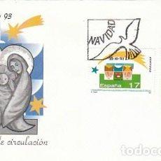 Sellos: EDIFIL 3273/4, NAVIDAD 1993, PRIMER DIA DE 23-11-1993 SFC. Lote 135827730