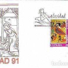 Sellos: EDIFIL Nº 3142/3, NAVIDAD 1991, PRIMER DIA DE 22-11-1991 SFC. Lote 136054406
