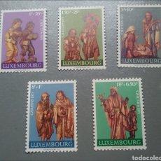 Sellos: 5 SELLOS LUXEMBURGO 786 / 790 NAVIDAD AÑO 1971 NUEVO. Lote 136315646