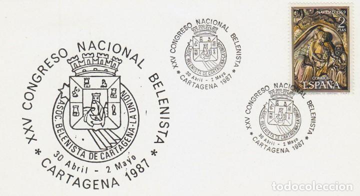 AÑO 1987, CONGRESO NACIONAL BELENISTA EN CARTAGENA (MURCIA) (Sellos - Temáticas - Navidad)