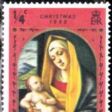 Timbres: 1969 - CAYMAN ISLAS - NAVIDAD / CHRISTMAS - ALVISE VIVARINI - VIRGEN CON NIÑO - YVERT 246. Lote 138531318