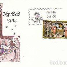 Sellos: EDIFIL 2776/7, NAVIDAD 1984, PALMA DE MALLORCA, PRIMER DIA DE 21-11-1984 EN SOBRE DEL SFC. Lote 151720602