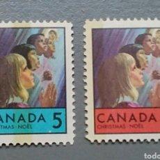 Sellos: SELLOS CANADA 417 / 18 NAVIDAD AÑO 1969. Lote 142213206