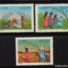 Sellos: BRASIL 1775/77** - AÑO 1985 - NAVIDAD. Lote 143164258