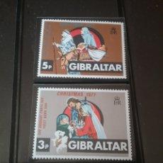 Sellos: SELOOS DE GIBRALTAR NUEVOS/1971/NAVIDAD/RELIGION/CREENCIAS/OBEJAS/MULA/NACIMIENTO/. Lote 143982105