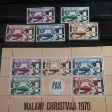 Timbres: HB+SELLOS DE MALAWI NUEVOS/1970/NAVIDAD/RELIGION/CREENCIAS/MUJER/NIÑO/CAMPO/PAISAJE/. Lote 143992112
