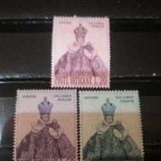 Sellos: SELLOS C. VATICANO NUEVOS/1968/NAVIDAD/ARTE/EL NIÑO JESUS DE PRAGA/RELIGION/CONSTUMBRES/TRADICIONES/. Lote 144035236