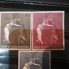 Sellos: SELLOS R. SAN MARINO NUEVOS/1968/NAVIDAD/ARTE/PINTURAS/LA NAVIDAD MISTICA DE SANDRO BOTTICELLI/RELIG. Lote 144036398