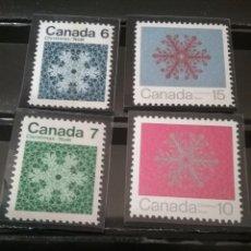 Sellos: SELLOS DE CANADA NUEVOS/1971/NAVIDAD/COPO DE NIEVE//. Lote 144111596