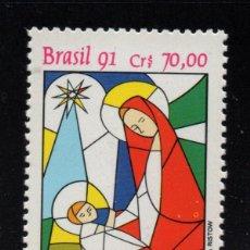 Sellos: BRASIL 2047** - AÑO 1991 - NAVIDAD. Lote 144119338