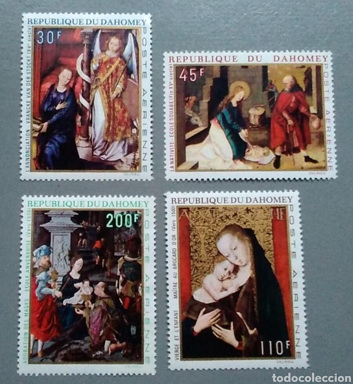 SELLOS DAHOMEI 112 / 115 NAVIDAD NUEVOS (Sellos - Temáticas - Navidad)