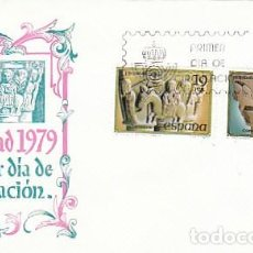 Sellos: EDIFIL 2550/1, NAVIDAD 1979 (SAN PEDRO EL VIEJO, HUESCA), PRIMER DIA DE 14-11-1979 SOBRE DEL SFC. Lote 151812660