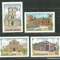 Sellos: SANTA LUCIA 1986 IVERT 848/51 *** NAVIDAD - IGLESIAS - MONUMENTOS. Lote 145800042
