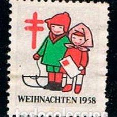 Sellos: AUSTRIA, VIÑETA ANTITUBERCULOSOS NAVIDAD 1958, NIÑOS CON LA CARTA PARA PEDIR LOS REGALOS. Lote 146925842