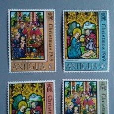 Sellos: SELLOS ANTIGUA 215 / 19 VIDRIERAS RELIGIOSAS NAVIDAD SERIE COMPLETA NUEVA. Lote 147530706