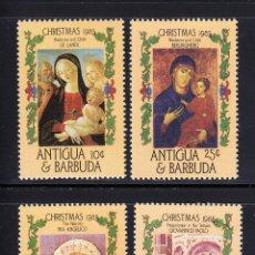 Sellos: ANTIGUA Y BARBUDA 1985 IVERT 881/4 *** NAVIDAD - PINTURA RELIGIOSA. Lote 150809990