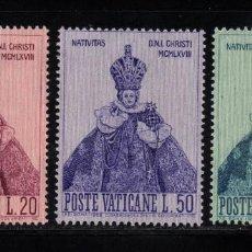 Sellos: VATICANO 482/84** - AÑO 1968 - NAVIDAD - NIÑO JESUS DE PRAGA. Lote 152308054