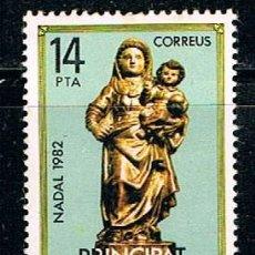 Sellos: ANDORRA EDIFIL 166 NAVIDAD 1982, VIRGEN DE LA PARROQUIA DE ANDORRA LA VIEJA, NUEVO ***. Lote 155265302
