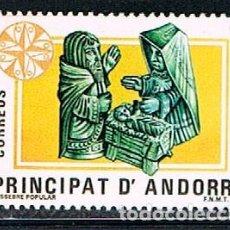 Sellos: ANDORRA Nº 183, EUROPA 1984, PESEBRE POPULAR, NUEVO ***. Lote 155282550