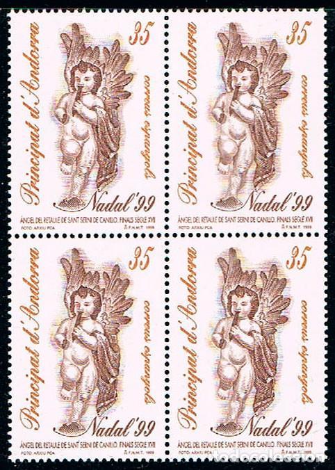 ANDORRA EDIFIL Nº 274, NAVIDAD 1999, NUEVO EN BLOQUE DE 4 (Sellos - Temáticas - Navidad)