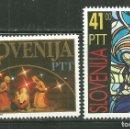 Sellos: ESLOVENIA 1992 IVERT 31 Y 33 *** NAVIDAD. Lote 159744242