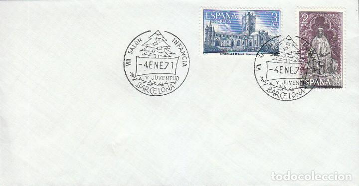 AÑO 1971, ARBOL DE NAVIDAD, SALON INFANCIA Y LA JUVENTUD DE BARCELONA (Sellos - Temáticas - Navidad)