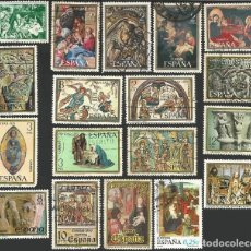 Sellos: ESPAÑA VARIOS AÑOS - NAVIDAD - 18 SELLOS USADOS. Lote 163845506