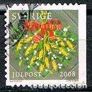 Sellos: SUECIA 2673, NAVIDAD 2008: ADORNOS FLORALES, USADO. Lote 165079454