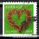 Sellos: SUECIA 2672, NAVIDAD 2008: ADORNOS FLORALES, USADO. Lote 165079538