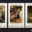 Sellos: SANTA LUCIA 523/25** - AÑO 1980 - NAVIDAD - PINTURA RELIGIOSA - OBRAS DE BATTISTA, MURILLO, BRUEGEL . Lote 165494670