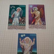 Sellos: SELLOS P. LIECHTENSTEIN NUEVOS/1986/NAVIDAD/ARCANGELES/ANGELES/RAFAEL/GABRIEL/MIGUEL/RELIGION/. Lote 165899417