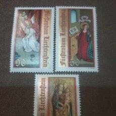 Sellos: SELLOS P. LIECHTENSTEIN NUEVOS/1991/NAVIDAD/PINTURAS/ARTE/ANGEL/VIRGEN/RELIGION/BIBLIA/NIÑO/. Lote 167075117