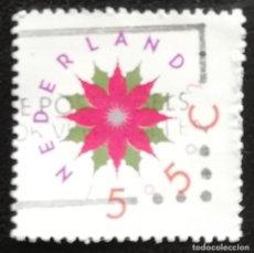 Sellos: 1992. NAVIDAD. HOLANDA. 1423. FLOR ESTILIZADA. USADO.. Lote 168261452