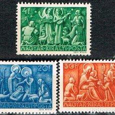Sellos: HUNGRIA Nº 770, NAVIDAD 1943, NUEVO *** (SERIE COMPLETA). Lote 222550020