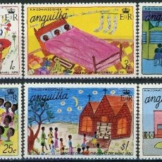 Sellos: ANGUILLA 1976 IVERT 232/7 ** NAVIDAD - DIBUJOS INFANTILES. Lote 170262652