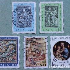 Sellos: LOTE 5 SELLOS ITALIA NAVIDAD. Lote 170373128