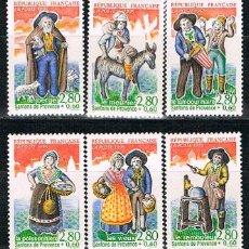 Sellos: FRANCIA IVERT Nº 2976/81, LES SANTONS DE PROVENCE, FIGURAS DEL NACIMIENTO, SELLO NUEVO *** SERIE COM. Lote 170532696