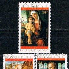 Francobolli: BURUNDI 805/7, NAVIDAD 1971, CUADROS DE LEONARDO DA VINCI, ETC., USADO (SERIE COMPLETA). Lote 170956603