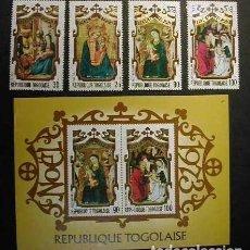 Sellos: TOGO 1973 - NAVIDAD - CHRISTMAS - NOEL - YVERT Nº 793/94 A211/212 + BLOCK Nº 73. Lote 171539114