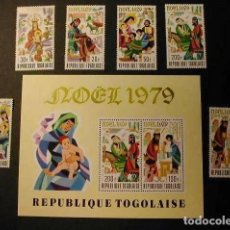 Sellos: TOGO 1979 - NAVIDAD - CHRISTMAS NOEL - YVERT Nº 968/970** + A401/403** + BLOCK Nº 133**. Lote 171624314